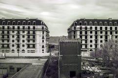 Nowożytnej architektury czarny i biały greyscale Fotografia Royalty Free