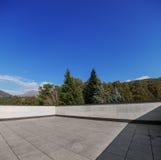 Nowożytnej domowej powierzchowności pusty dach, natura widok zdjęcia royalty free