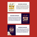 Nowożytnej ręki Rysunkowej typografii wycena Motywacyjna ilustracja - Jeśli Nie Teraz Wtedy Gdy Obraz Stock