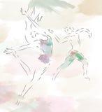 nowożytni baletniczy tancerze royalty ilustracja