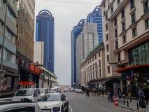 Nowożytni budynków place w Sisli Istanbuł obrazy stock