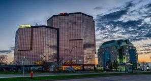 Nowożytni budynki fotografia stock