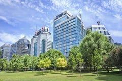 Nowożytni budynki biurowi na Pieniężnej ulicie, Pekin, Chiny Obraz Royalty Free