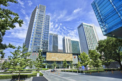 Nowożytni budynki biurowi na Pieniężnej ulicie, Pekin, Chiny Obraz Stock