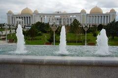 Nowożytni budynki przy centre Ashgabat, Turkmenistan obrazy royalty free