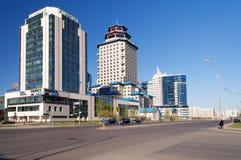 Nowożytni budynki w Astana Kazakhsatan zdjęcie royalty free