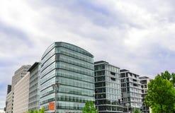 Nowożytni budynki w Berlin, Niemcy zdjęcie royalty free