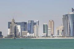 Nowożytni budynki w Doha Zdjęcie Royalty Free