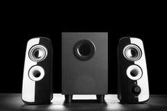 Nowożytni czerń dźwięka mówcy Obrazy Stock