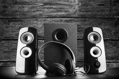 Nowożytni czerń dźwięka mówcy Obraz Stock