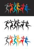 Nowożytni dancingowi dyskoteka tancerze ilustracja wektor