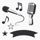 Nowożytni i retro mikrofony ilustracji