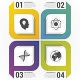 Nowożytni kwadraty Infographic projekta szablon również zwrócić corel ilustracji wektora ilustracja wektor