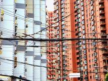 Nowożytni mieszkania mieści w Szanghaj zdjęcie stock