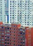 Nowożytni mieszkania mieści w Szanghaj zdjęcia royalty free