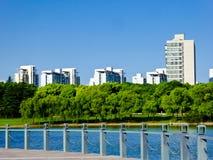 Nowożytni mieszkania mieści w Szanghaj obraz stock