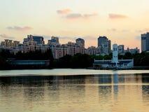 Nowożytni mieszkania mieści w Szanghaj zdjęcie royalty free