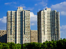 Nowożytni mieszkania mieści w Szanghaj Obraz Royalty Free