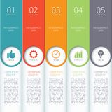 Nowożytni minimalni kolorowi infographics elementy Obraz Stock