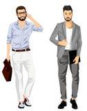 Nowożytni modni biznesmeni ilustracji
