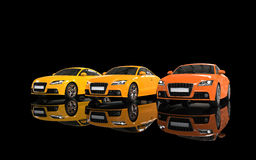 Nowożytni samochody - Grże kolory Zdjęcie Stock