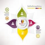 Nowożytni wektorowi elementy dla infographics z papierowymi elementami Obrazy Stock