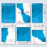 Nowożytni wektorowi szablony dla broszurki, ulotki, okładkowego magazynu lub raportu w A4 rozmiarze, Biznes, nauka, medycyna i Obrazy Stock
