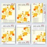 Nowożytni wektorowi szablony dla broszurki, ulotki, okładkowego magazynu lub raportu w A4 rozmiarze, Biznes, nauka, medycyna i Zdjęcia Stock