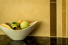 Nowożytny łazienka kontuar Zdjęcie Stock