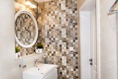 Nowożytny łazienki wnętrze, nowożytny współczesny projekt obrazy royalty free
