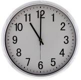 Nowożytny ścienny zegar na białym tle Obraz Royalty Free