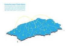 Nowożytny świętego Helena mapy związków sieci projekt, Najlepszy Internetowy pojęcie świętego Helena mapy biznes od pojęcie serii ilustracja wektor