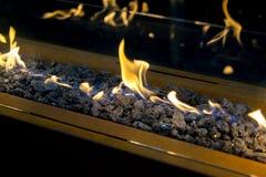 Nowożytny życiorys fireplot na etanolu gazie Zdjęcia Stock