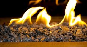 Nowożytny życiorys fireplot na etanolu gazie Obrazy Stock