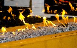 Nowożytny życiorys fireplot na etanolu gazie Zdjęcie Stock