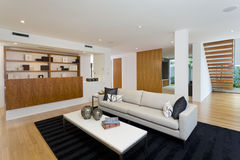 Nowożytny żywy pokój Fotografia Royalty Free
