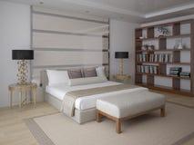Nowożytny żywy pokój z czynnościowym meble royalty ilustracja