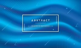Nowożytny abstrakcjonistyczny błękita przepływu wektoru tło Dynamiczny błękit fali tło Teksta i projekta elementy mogą redagujący royalty ilustracja