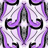 Nowożytny abstrakcjonistyczny geometryczny grecki wektorowy bezszwowy wzór Ornamentacyjna elegancja deseniujący tło Powtórki deko ilustracji