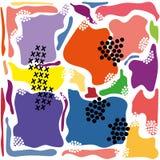 Nowożytny abstrakcjonistyczny jaskrawy koloru avant Garde tło royalty ilustracja