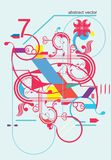 nowożytny abstrakcjonistyczny piękny projekt ilustracji