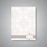 Nowożytny abstrakcjonistyczny szablonu układ dla broszurki Zdjęcia Stock