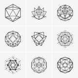 Nowożytny abstrakcjonistyczny wektorowy loga lub elementu projekt Best dla tożsamości i logotypów Prosty kształt Obraz Stock