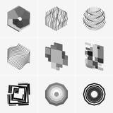 Nowożytny abstrakcjonistyczny wektorowy loga lub elementu projekt Best dla tożsamości i logotypów Prosty kształt Zdjęcia Royalty Free