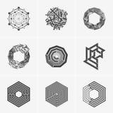 Nowożytny abstrakcjonistyczny wektorowy loga lub elementu projekt Best dla tożsamości i logotypów Prosty kształt Obrazy Royalty Free