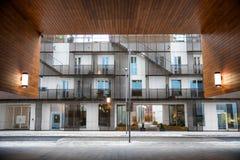 Nowożytny architektury Barcode projekt Oslo obrazy royalty free