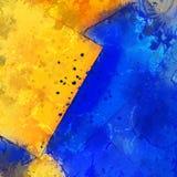 nowożytny błękitny i pomarańczowy splatter tło zdjęcie stock