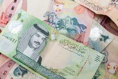 Nowożytny Bahrajn dinarów banknotów tło obrazy royalty free