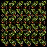 Nowożytny batik z liści wzorami ilustracja wektor