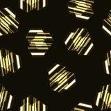 Nowożytny bezszwowy wektoru wzór, złoty pasiasty sześciokąta tło Obrazy Royalty Free